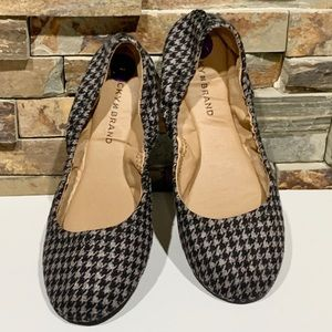 Lucky Brand houndstooth Emmie leather ballet flats